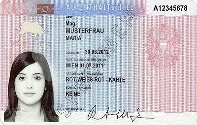 Австрийская Rot-Weiß-Rot-Karte